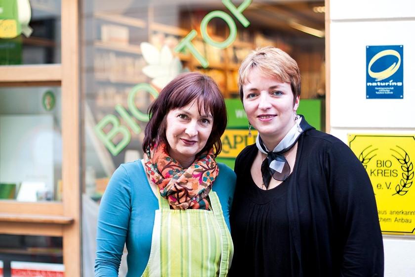Biotop Passau, Regina Wirth und Lydia Bucksath, bio, fair, einkaufen